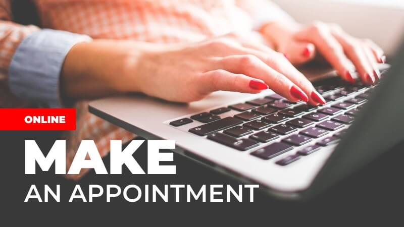 Make an appointment online